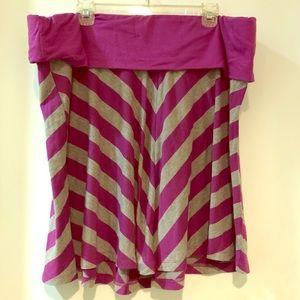 Euc torrid 3x purple and grey chevron skirt plus